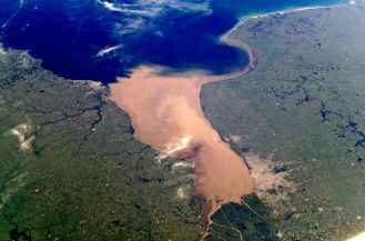 Rio de Plata from space
